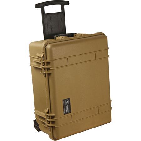 Pelican LOC Laptop Watertight Hard Travel Case Wheels Desert Tan 114 - 770
