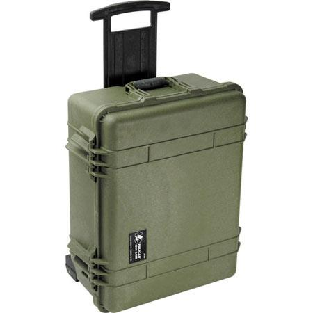 Pelican Watertight Hard Case without Foam Insert Wheels Olive Drab 52 - 750