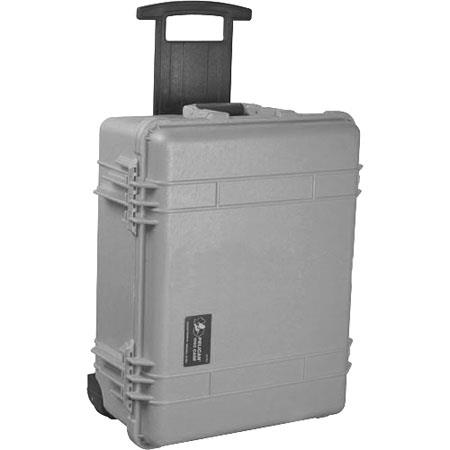 Pelican Watertight Hard Case without Foam Insert Wheels Silver 99 - 322