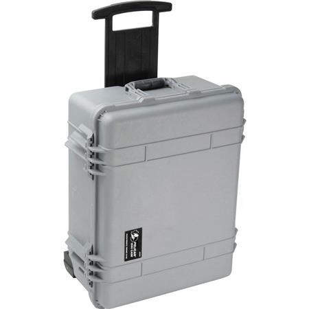 Pelican Watertight Hard Case Cubed Foam Interior Wheels Silver 115 - 314