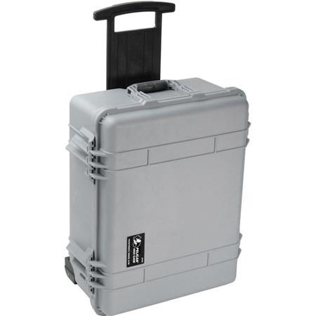 Pelican Watertight Hard Case Moveable Divider Interior Wheels Silver 376 - 94