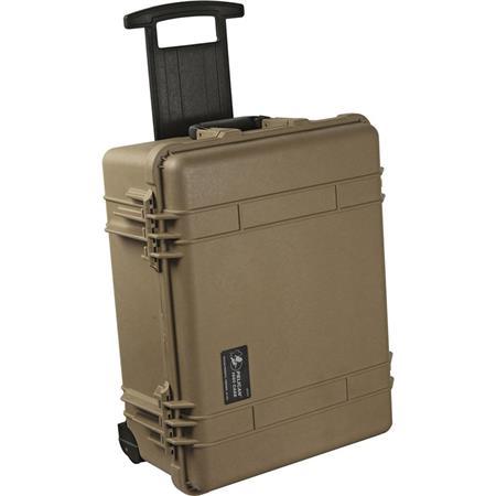 Pelican Watertight Hard Case Moveable Divider Interior Wheels Desert Tan 50 - 744