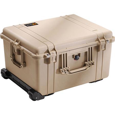 Pelican Watertight Hard Case Cubed Foam Interior Wheels Desert Tan 299 - 162