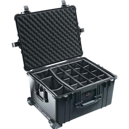 Pelican Watertight Hard Case Moveable Divider Interior Wheels  63 - 649