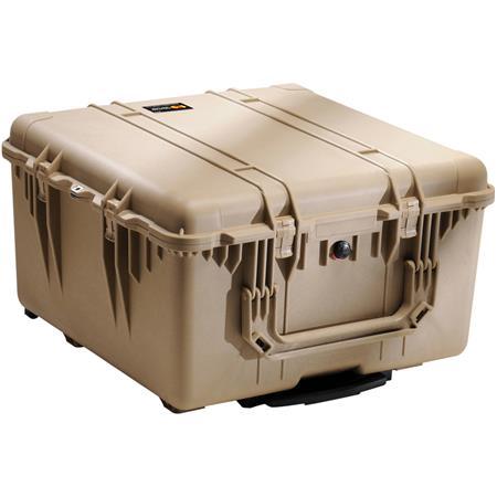 Pelican Watertight Hard Case Cubed Foam Interior Wheels Desert Tan 90 - 510