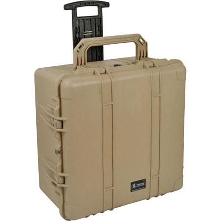 Pelican Watertight Hard Case Padded Dividers Wheels Desert Tan 86 - 796