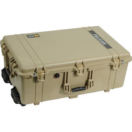 Pelican Watertight Hard Case Wheels without Foam Desert Tan 96 - 30