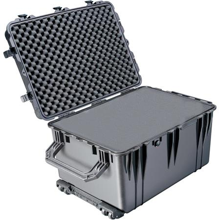 Pelican Watertight Hard Case Cubed Foam Wheels Charcoal 63 - 414