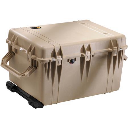 Pelican Watertight Hard Case Cubed Foam Wheels Desert Tan 237 - 448