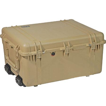 Pelican Watertight Hard Case Dividers Wheels Desert Tan 102 - 166