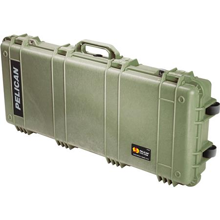 Pelican Travel Vault II Watertight Gun Case Foam Insert Wheels Olive Drab 131 - 505