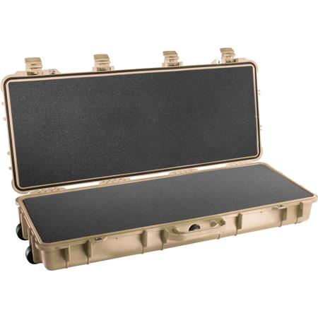 Pelican Travel Vault II Watertight Gun Case Foam Insert Wheels Desert Tan 131 - 505