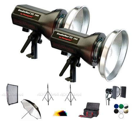 Photogenic AKCK Basic Studio Light Soft BoKit StudioMaIII AKC Strobe MonolightsSoft BoPanel Umbrella 17 - 522