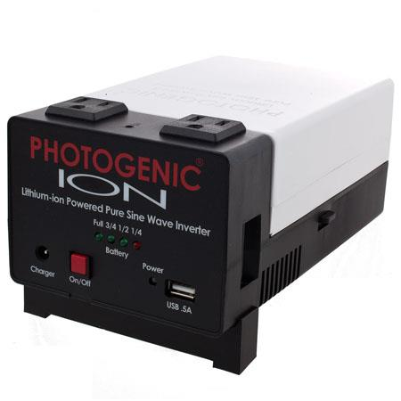Photogenic ION Lithium ion Powered Pure Sine Wave Inverter Portable Power Studio Lights 173 - 207