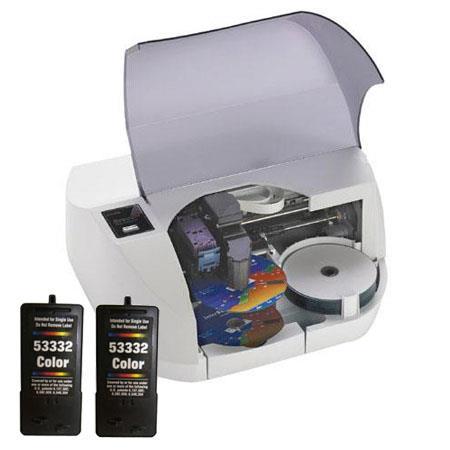 Primera Bravo SE CDDVD Disc Inkjet AutoPrinter Disc Capacity Bundle Color Ink Cartridge 157 - 156