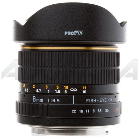 Pro Optic f Manual Focus Fish Eye Lens Canon EOS Mount 144 - 383