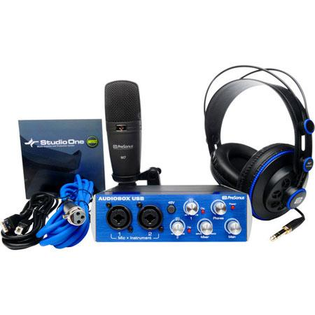 PreSonus AudioBoStudio Set Complete HardwareSoftware Recording Kit 121 - 704