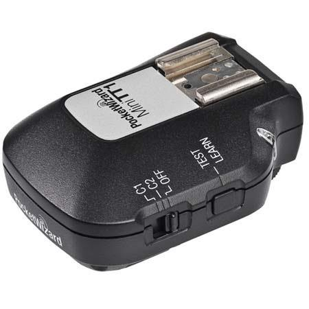 PocketWizard MiniTT Radio Slave Transmitter Nikon i TTL System On Camera Hot Shoe Channels Multi Zon 120 - 233
