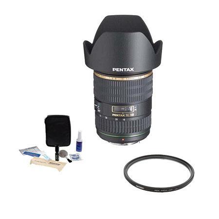PentaSMCP DA f ED AL IF SDM Af Lens Kit USA Tiffen UV Wide Angle Filter Professional Lens Cleaning K 110 - 382