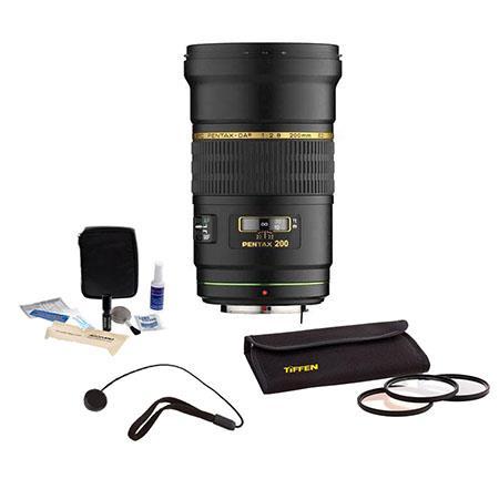 PentaDA f ED IF SDM Auto Focus Lens Kit USA Tiffen Photo Essentials Filter Kit Lens Cap Leash Profes 102 - 479