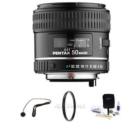 PentaD FA f Macro Auto Focus Lens Kit Tiffen UV Filter Lens Cap Leash Professional Lens Cleaning Kit 118 - 527