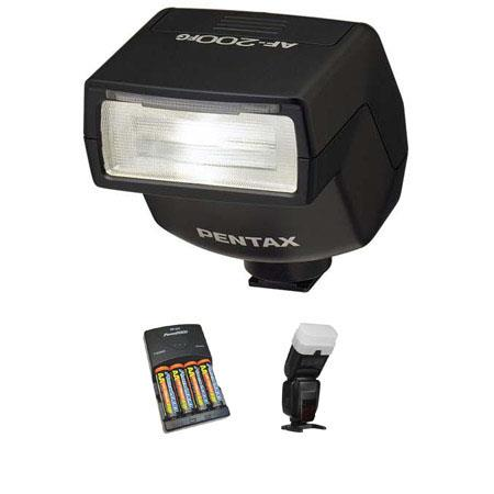 PentaAF FG Dedicated Shoe Mount Flash Basic Outfit NiMH Batteries Charger Sto Fen Omni Bounce 139 - 214