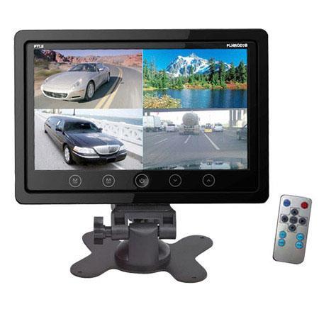 Pyle PLHRQD Quad TFTLCD Video Monitor Headrest Shroud RCA ConnectorsHigh Resolution  77 - 639
