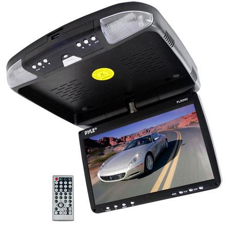 Pyle PLRD Flip Down Roof Mount Monitor DVD Player Wireless FM ModulatorIR TransmitterPixels Resoluti 165 - 55