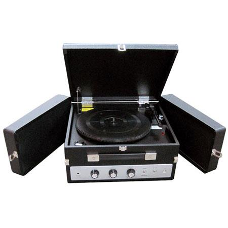 Pyle PLTTBUI Classical Vinyl Turntable Record Player withEncodingiPod PlayerAUX Input Dual Fold Out  299 - 145