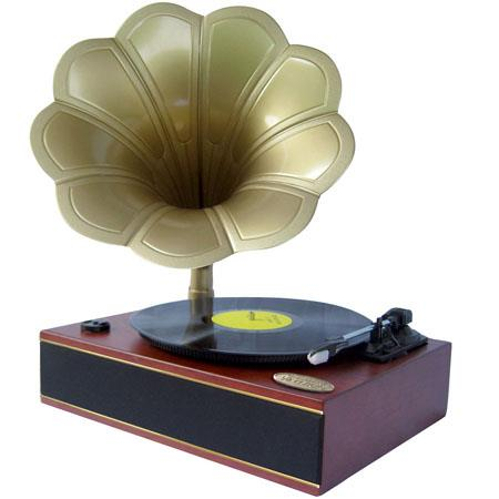 Pyle PNGTT Classic Horn PhonographTurntable USB to PC Connection and AuIn  63 - 741