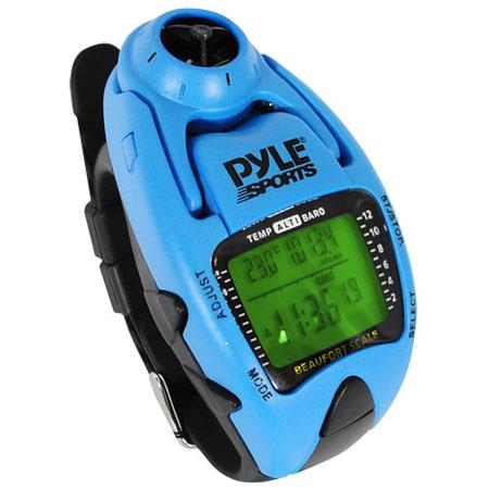 Pyle PSWWM Wind Speed Meter Altimeter Barometer Compass Laps Chronograph Memory Yacht Timer Blue 43 - 604
