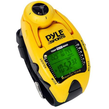 Pyle PSWWM Wind Speed Meter Altimeter Barometer Compass Laps Chronograph Memory Yacht Timer  137 - 48