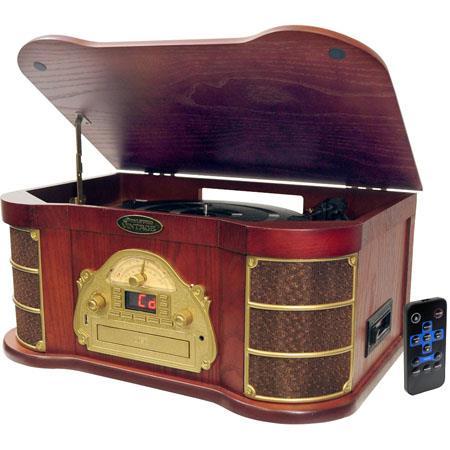 Pyle PTCDSU Classical Turntable AMFM Radio CDCassette USB Recording 61 - 461