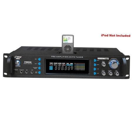 Pyle PAI W Hybrid Receiver Pre Amplifier AM FM TuneriPod Docking Station 44 - 617