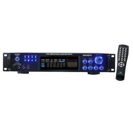 Pyle PAT W Hybrid Pre Amplifier AMFM Tuner 151 - 486