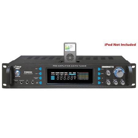 Pyle PAI W Hybrid Receiver Pre Amplifier AM FM TuneriPod Docking Station 21 - 783
