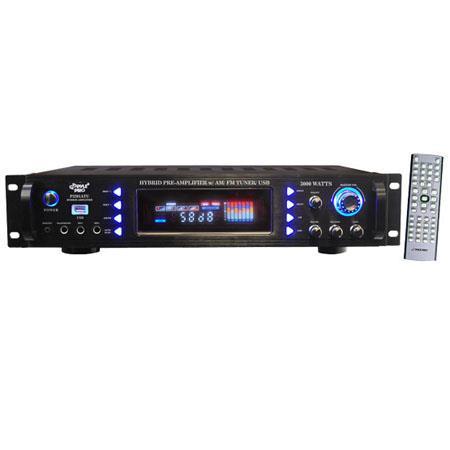 Pyle PATU W Hybrid Pre Amplifier AMFM Tuner USB 109 - 761