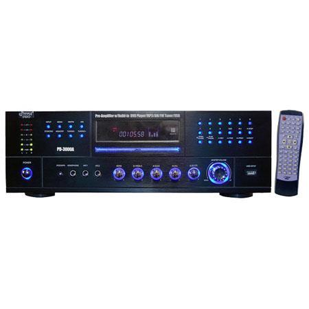 Pyle watts AMFM Receiver Built In DVDMPUSB Player 101 - 767