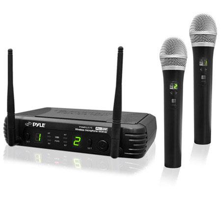 PylePro Premier Series Professional Channel UHF Wireless Handheld Microphone System MHz RF Frequency 106 - 155