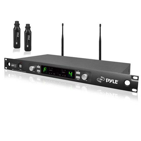 PylePro PDWM Premier Series Professional UHF Mic Rack Mountable SystemPlug XLR Wireless Transmitters 72 - 378