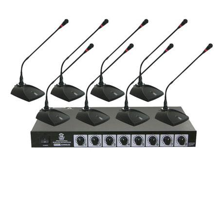 Pyle PDWM Professional Conference Desktop VHF Wireless Microphone System 252 - 628