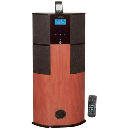 Pyle PHST Watt Digital Channel Home Theater Tower iPodiPhone Docking Station Wood 118 - 692