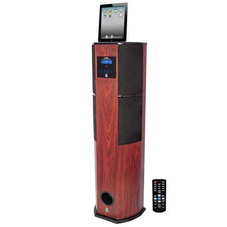Pyle PHSTIP Watt Digital Channel Home Theater Tower Docking Station iPodiPhoneiPad Wood 23 - 442