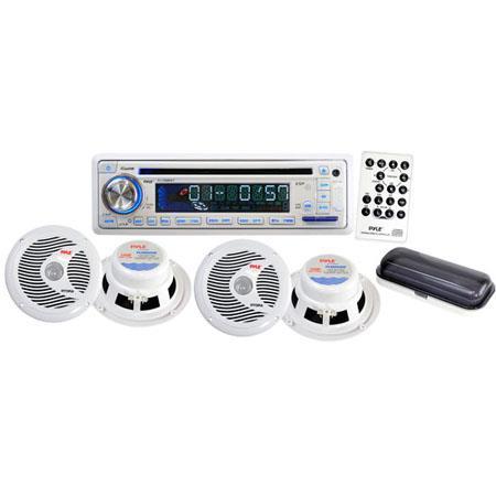 Pyle PLCDMRKT Marine Waterproof Speaker CDUSBMP Combo Stereo Cover 100 - 440