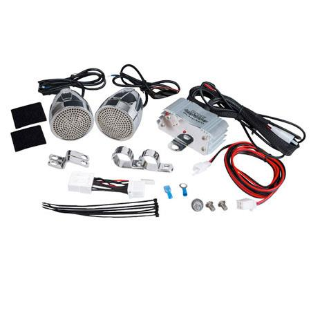 Pyle PLMCA Watts MotorcycleATVSnowmobile Mount Amplifier Dual Handle bar Mount Aluminium Diecast Wea 14 - 667