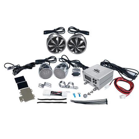 Pyle PLMCA Watts MotorcycleATVSnowmobile Mount Channel Amplifier Handlebar Mount Aluminum Die cast W 91 - 142