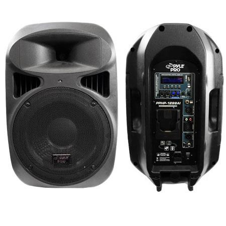 Pyle PPHPAI W Powered Two Way Full Range Loud Speaker System Built MPUSB iPod Dock 80 - 676