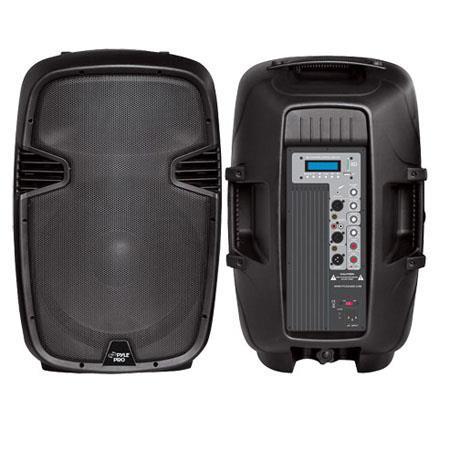 Pyle PPHPMU W Powered Two Way PA Speaker MPUSBSD Playback 30 - 460