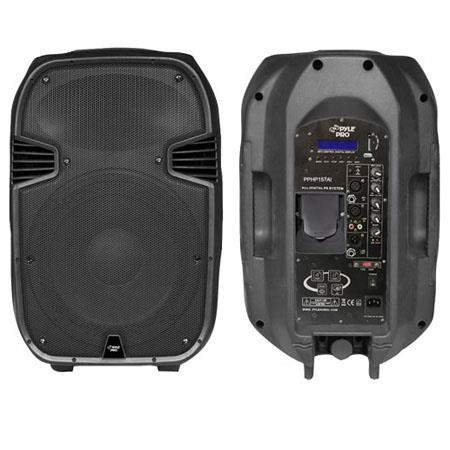 Pyle PPHPAI W Powered Two Way Full Range Portable PA Speaker Built iPod Dock USB SD and Remote Contr 252 - 628