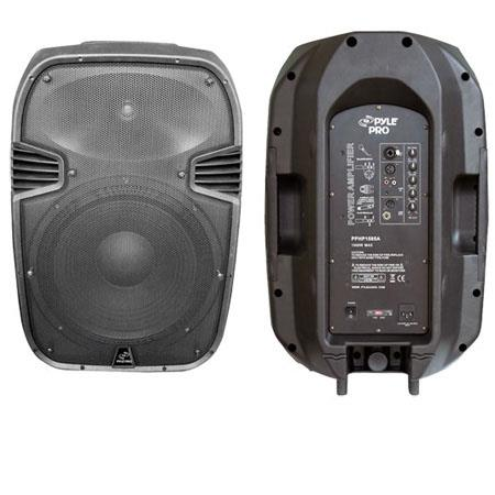 Pyle PPHPA W Powered Two Way Plastic Molded Speaker System 8 - 466